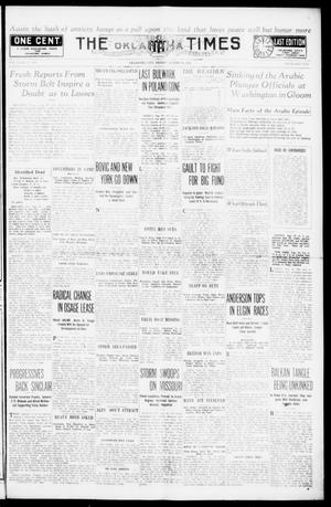 Primary view of object titled 'The Oklahoma Times (Oklahoma City, Okla.), Vol. 27, No. 109, Ed. 1 Friday, August 20, 1915'.