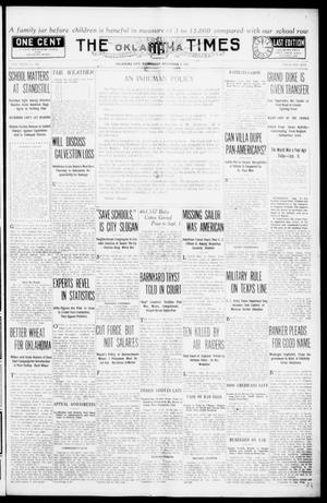 Primary view of object titled 'The Oklahoma Times (Oklahoma City, Okla.), Vol. 27, No. 125, Ed. 1 Wednesday, September 8, 1915'.