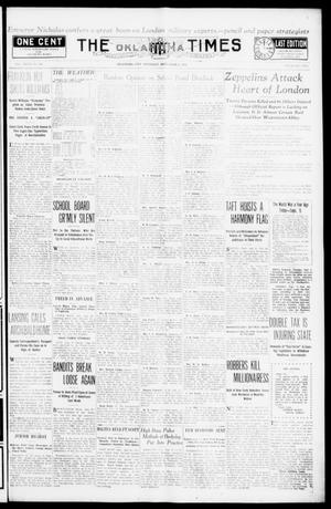 Primary view of object titled 'The Oklahoma Times (Oklahoma City, Okla.), Vol. 27, No. 126, Ed. 1 Thursday, September 9, 1915'.