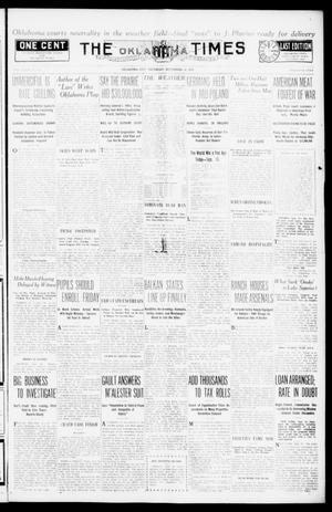 Primary view of object titled 'The Oklahoma Times (Oklahoma City, Okla.), Vol. 27, No. 132, Ed. 1 Thursday, September 16, 1915'.