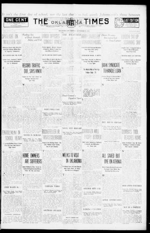 Primary view of object titled 'The Oklahoma Times (Oklahoma City, Okla.), Vol. 27, No. 135, Ed. 1 Monday, September 20, 1915'.