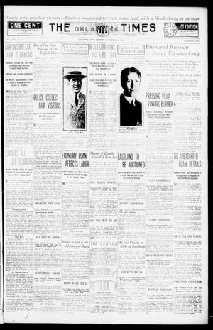 Primary view of object titled 'The Oklahoma Times (Oklahoma City, Okla.), Vol. 27, No. 136, Ed. 1 Tuesday, September 21, 1915'.