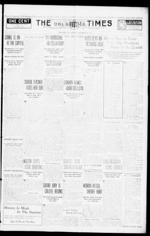 Primary view of object titled 'The Oklahoma Times (Oklahoma City, Okla.), Vol. 27, No. 144, Ed. 1 Thursday, September 30, 1915'.