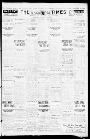Primary view of object titled 'The Oklahoma Times (Oklahoma City, Okla.), Vol. 27, No. 147, Ed. 1 Monday, October 4, 1915'.
