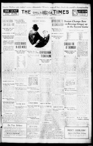 Primary view of object titled 'The Oklahoma Times (Oklahoma City, Okla.), Vol. 27, No. 152, Ed. 1 Saturday, October 9, 1915'.