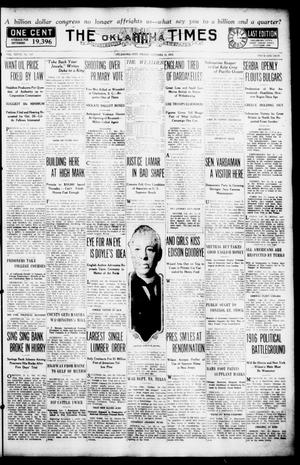 Primary view of object titled 'The Oklahoma Times (Oklahoma City, Okla.), Vol. 27, No. 157, Ed. 1 Friday, October 15, 1915'.