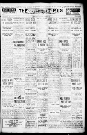 Primary view of object titled 'The Oklahoma Times (Oklahoma City, Okla.), Vol. 27, No. 170, Ed. 1 Saturday, October 30, 1915'.