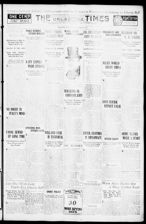 Primary view of object titled 'The Oklahoma Times (Oklahoma City, Okla.), Vol. 27, No. 187, Ed. 1 Friday, November 19, 1915'.