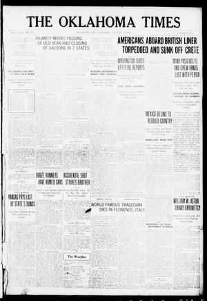 Primary view of object titled 'The Oklahoma Times (Oklahoma City, Okla.), Vol. 27, No. 224, Ed. 1 Saturday, January 1, 1916'.
