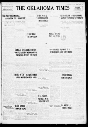 Primary view of object titled 'The Oklahoma Times (Oklahoma City, Okla.), Vol. 27, No. 255, Ed. 1 Monday, February 7, 1916'.