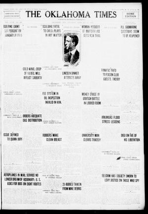 Primary view of The Oklahoma Times (Oklahoma City, Okla.), Vol. 27, No. 260, Ed. 1 Saturday, February 12, 1916