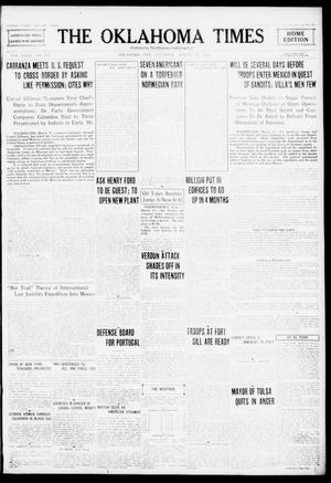 Primary view of object titled 'The Oklahoma Times (Oklahoma City, Okla.), Vol. 27, No. 284, Ed. 1 Saturday, March 11, 1916'.