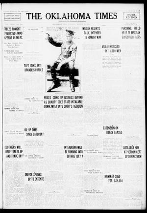Primary view of object titled 'The Oklahoma Times (Oklahoma City, Okla.), Vol. 27, No. 286, Ed. 1 Tuesday, March 14, 1916'.