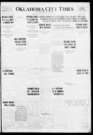 Primary view of object titled 'Oklahoma City Times (Oklahoma City, Okla.), Vol. 27, No. 300, Ed. 1 Monday, March 20, 1916'.