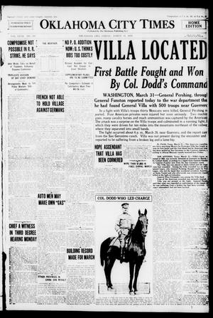 Primary view of object titled 'Oklahoma City Times (Oklahoma City, Okla.), Vol. 27, No. 310, Ed. 1 Friday, March 31, 1916'.
