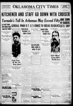 Primary view of object titled 'Oklahoma City Times (Oklahoma City, Okla.), Vol. 28, No. 56, Ed. 1 Tuesday, June 6, 1916'.