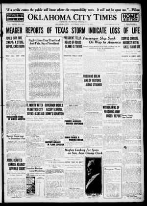 Primary view of object titled 'Oklahoma City Times (Oklahoma City, Okla.), Vol. 28, No. 120, Ed. 1 Saturday, August 19, 1916'.