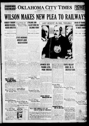 Primary view of Oklahoma City Times (Oklahoma City, Okla.), Vol. 28, No. 121, Ed. 1 Monday, August 21, 1916