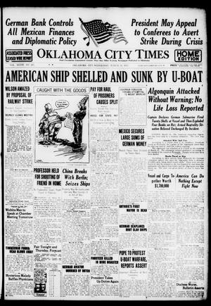 Primary view of object titled 'Oklahoma City Times (Oklahoma City, Okla.), Vol. 28, No. 297, Ed. 1 Wednesday, March 14, 1917'.
