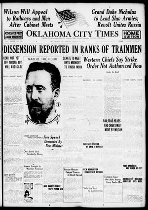 Primary view of object titled 'Oklahoma City Times (Oklahoma City, Okla.), Vol. 28, No. 299, Ed. 1 Friday, March 16, 1917'.