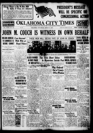 Primary view of object titled 'Oklahoma City Times (Oklahoma City, Okla.), Vol. 28, No. 305, Ed. 1 Friday, March 23, 1917'.