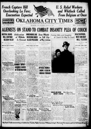 Primary view of object titled 'Oklahoma City Times (Oklahoma City, Okla.), Vol. 28, No. 306, Ed. 1 Saturday, March 24, 1917'.