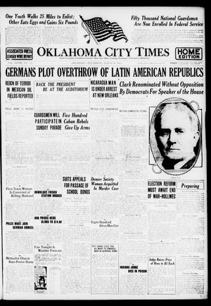 Primary view of object titled 'Oklahoma City Times (Oklahoma City, Okla.), Vol. 28, No. 311, Ed. 1 Friday, March 30, 1917'.