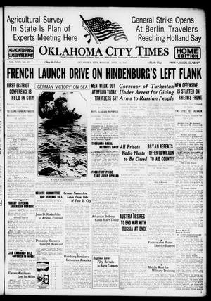 Primary view of object titled 'Oklahoma City Times (Oklahoma City, Okla.), Vol. 29, No. 13, Ed. 1 Monday, April 16, 1917'.