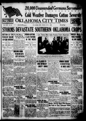 Primary view of object titled 'Oklahoma City Times (Oklahoma City, Okla.), Vol. 29, No. 53, Ed. 1 Friday, June 1, 1917'.