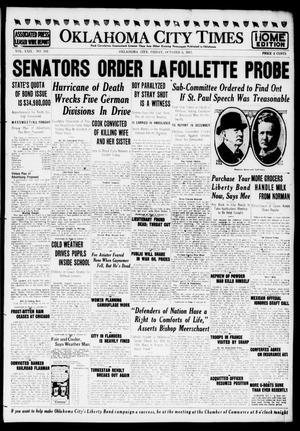 Primary view of Oklahoma City Times (Oklahoma City, Okla.), Vol. 29, No. 162, Ed. 1 Friday, October 5, 1917