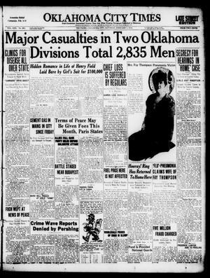 Primary view of Oklahoma City Times (Oklahoma City, Okla.), Vol. 30, No. 261, Ed. 1 Saturday, February 1, 1919