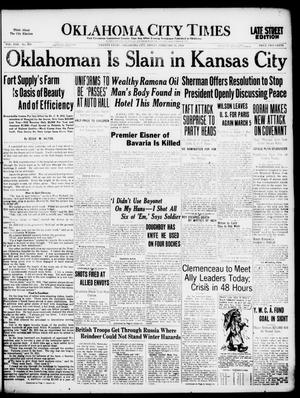 Primary view of object titled 'Oklahoma City Times (Oklahoma City, Okla.), Vol. 30, No. 278, Ed. 1 Friday, February 21, 1919'.