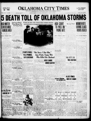 Primary view of object titled 'Oklahoma City Times (Oklahoma City, Okla.), Vol. 30, No. 298, Ed. 1 Monday, March 17, 1919'.