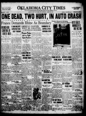 Primary view of object titled 'Oklahoma City Times (Oklahoma City, Okla.), Vol. 30, No. 304, Ed. 1 Saturday, March 29, 1919'.