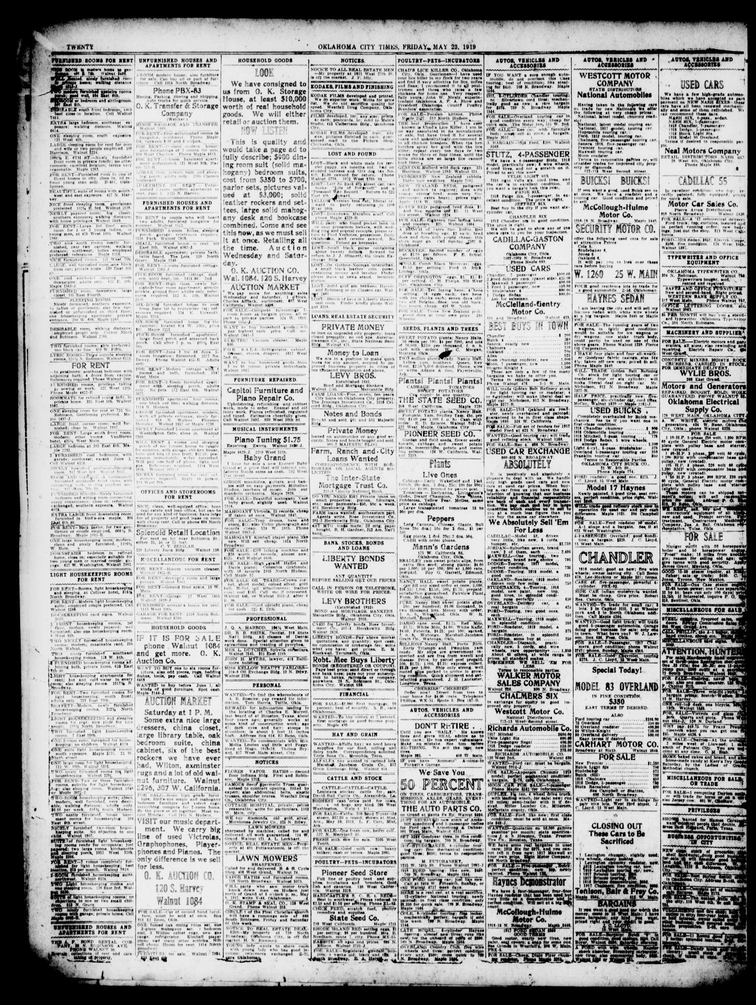 Oklahoma City Times (Oklahoma City, Okla.), Vol. 31, No. 38, Ed. 1 ...