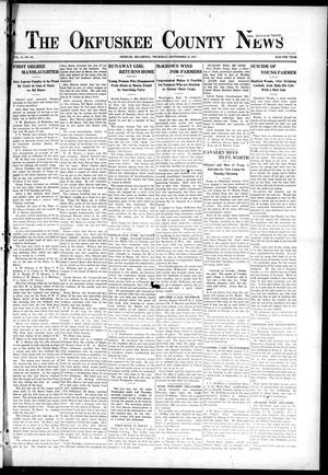 Primary view of object titled 'The Okfuskee County News (Okemah, Okla.), Vol. 14, No. 50, Ed. 1 Thursday, September 13, 1917'.