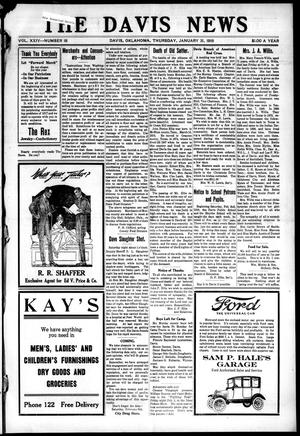 Primary view of object titled 'The Davis News (Davis, Okla.), Vol. 24, No. 18, Ed. 1 Thursday, January 31, 1918'.