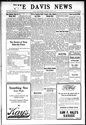 Primary view of object titled 'The Davis News (Davis, Okla.), Vol. 25, No. 38, Ed. 1 Thursday, June 19, 1919'.