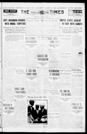 Primary view of object titled 'The Oklahoma Times (Oklahoma City, Okla.), Vol. 27, No. 94, Ed. 1 Tuesday, August 3, 1915'.