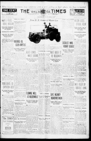 Primary view of object titled 'The Oklahoma Times And The Weekly Times (Oklahoma City, Okla.), Vol. 27, No. 103, Ed. 1 Friday, August 13, 1915'.