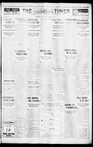 Primary view of object titled 'The Oklahoma Times (Oklahoma City, Okla.), Vol. 27, No. 198, Ed. 1 Thursday, December 2, 1915'.