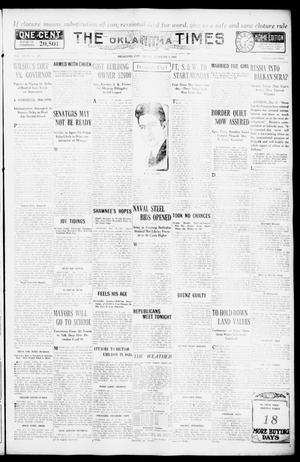 Primary view of object titled 'The Oklahoma Times (Oklahoma City, Okla.), Vol. 27, No. 199, Ed. 1 Friday, December 3, 1915'.