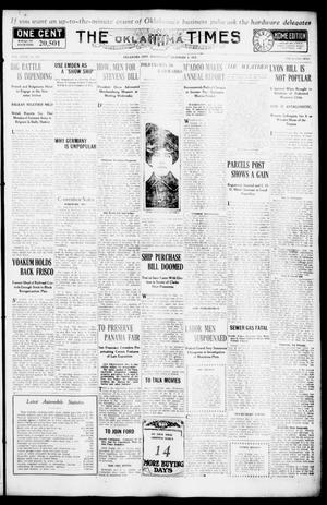 Primary view of object titled 'The Oklahoma Times (Oklahoma City, Okla.), Vol. 27, No. 203, Ed. 1 Wednesday, December 8, 1915'.