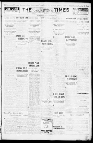 Primary view of object titled 'The Oklahoma Times (Oklahoma City, Okla.), Vol. 27, No. 204, Ed. 1 Thursday, December 9, 1915'.