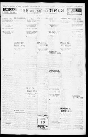Primary view of object titled 'The Oklahoma Times (Oklahoma City, Okla.), Vol. 27, No. 207, Ed. 1 Monday, December 13, 1915'.