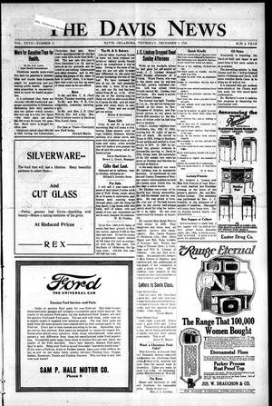 Primary view of object titled 'The Davis News (Davis, Okla.), Vol. 27, No. 11, Ed. 1 Thursday, December 9, 1920'.