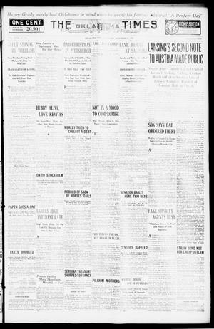 Primary view of object titled 'The Oklahoma Times (Oklahoma City, Okla.), Vol. 27, No. 215, Ed. 1 Wednesday, December 22, 1915'.