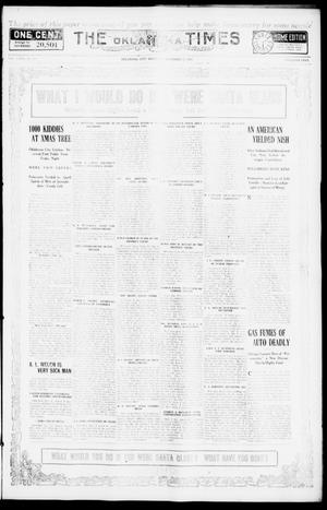 Primary view of object titled 'The Oklahoma Times (Oklahoma City, Okla.), Vol. 27, No. 218, Ed. 1 Saturday, December 25, 1915'.