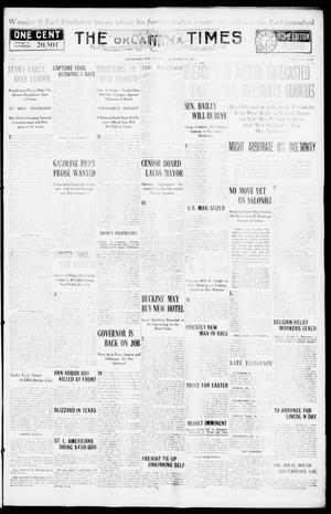 Primary view of object titled 'The Oklahoma Times (Oklahoma City, Okla.), Vol. 27, No. 220, Ed. 1 Tuesday, December 28, 1915'.