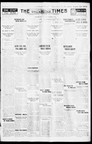 Primary view of object titled 'The Oklahoma Times (Oklahoma City, Okla.), Vol. 27, No. 221, Ed. 1 Wednesday, December 29, 1915'.